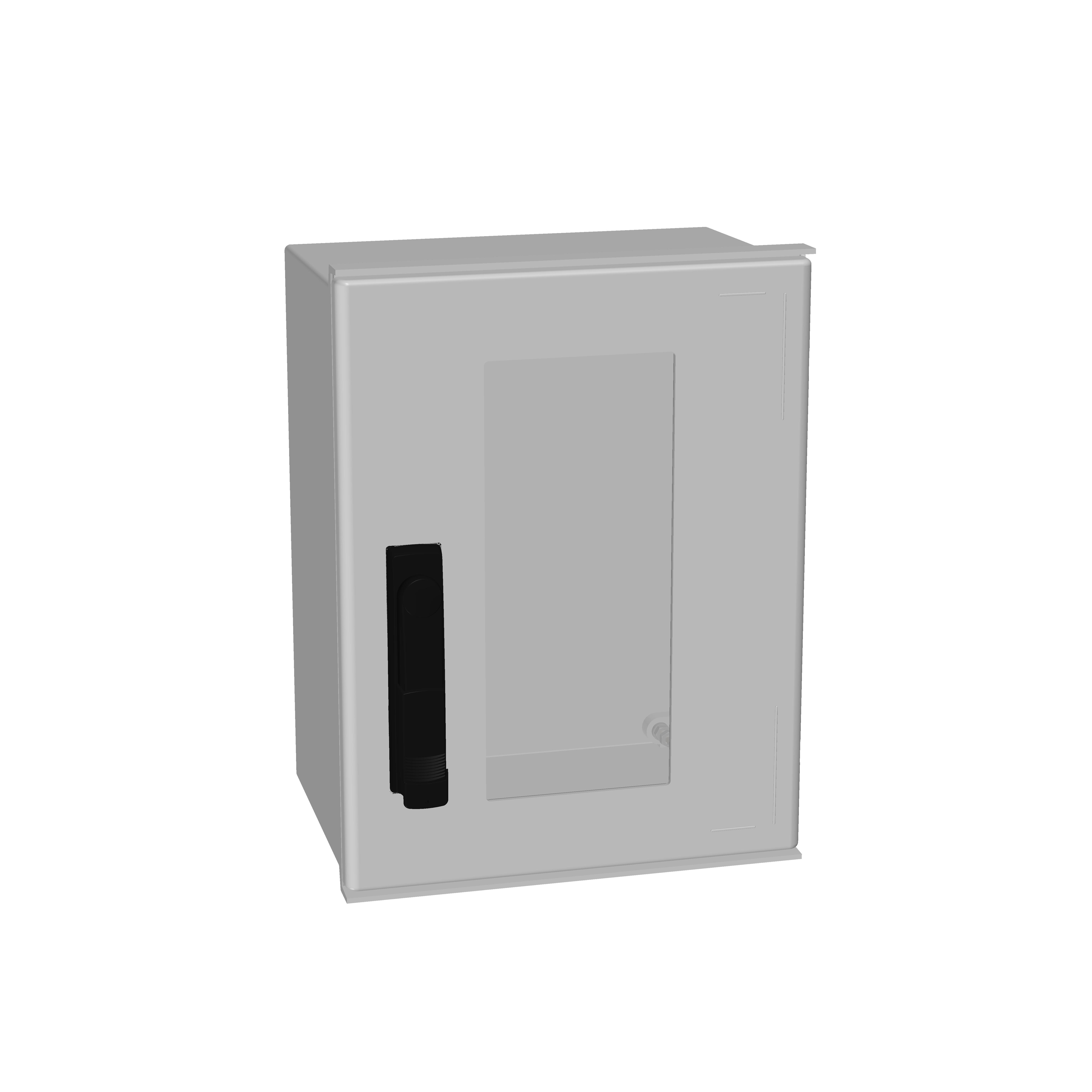 1 Stk Minipol-Wandschrank 3-Punkt Stangenverschl.+SF 400x300x200mm IM088943--
