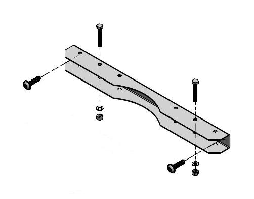 1 Stk Mastbefestigung für Schrank B=600mm IMFP0600--