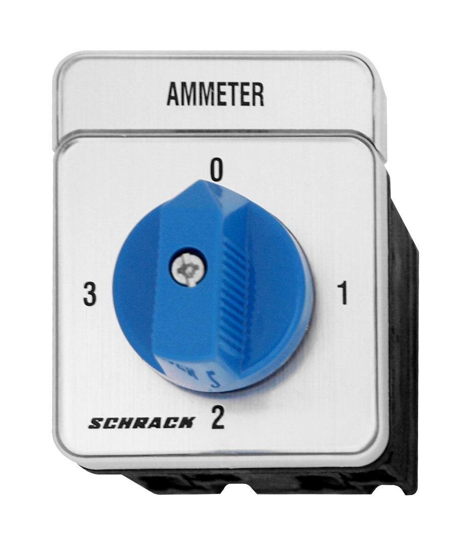 1 Stk Amperemeter-Umschalter 20A, 0-1-2-3, Verteilereinbau IN009A00--