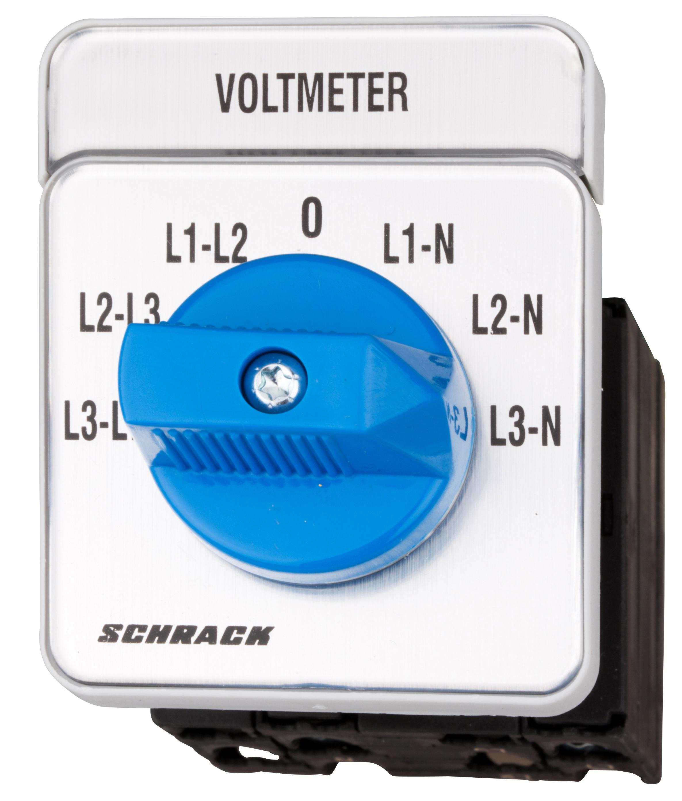 1 Stk Voltmeter-Umschalter 3 x L-L / 3 x L-N, Zentralbefestigung IN009V02--