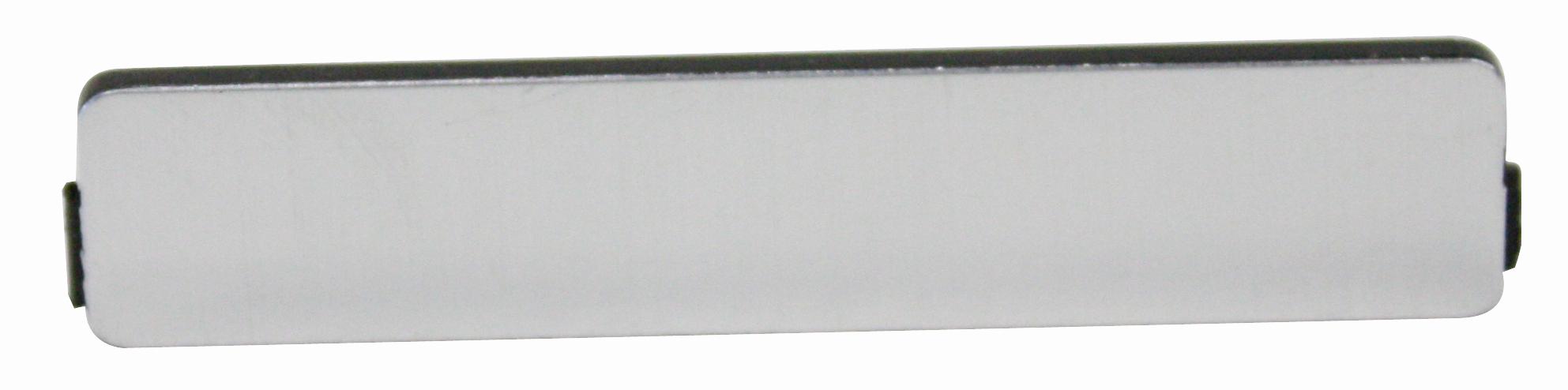 1 Stk Zusatzschild blank für IN022044-- von vorne gravierbar IN022033--