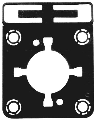 1 Stk Zusatzschildrahmen f. IN022033 passend f. E,FS2 u. FT2 IN022044--