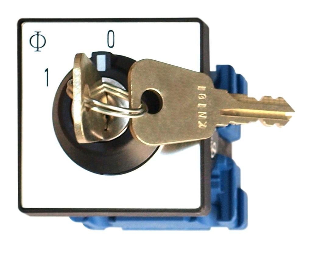 1 Stk Umschalter, Front. Zentralbefest., 20A, 1-polig, Schlüssel IN022104--