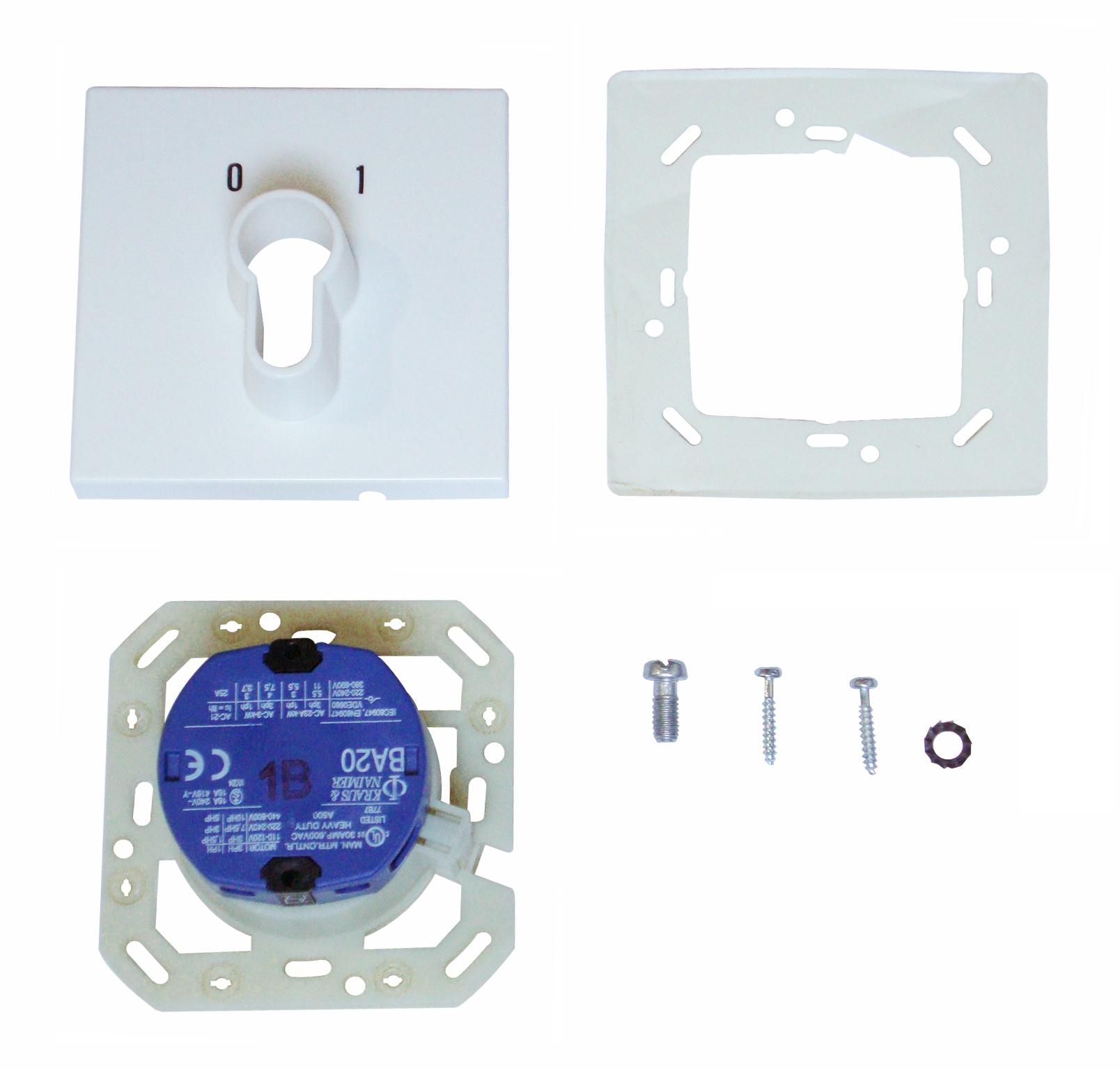 1 Stk UP-Schlüsselschalter 1-polig, 0-1 IN210000--