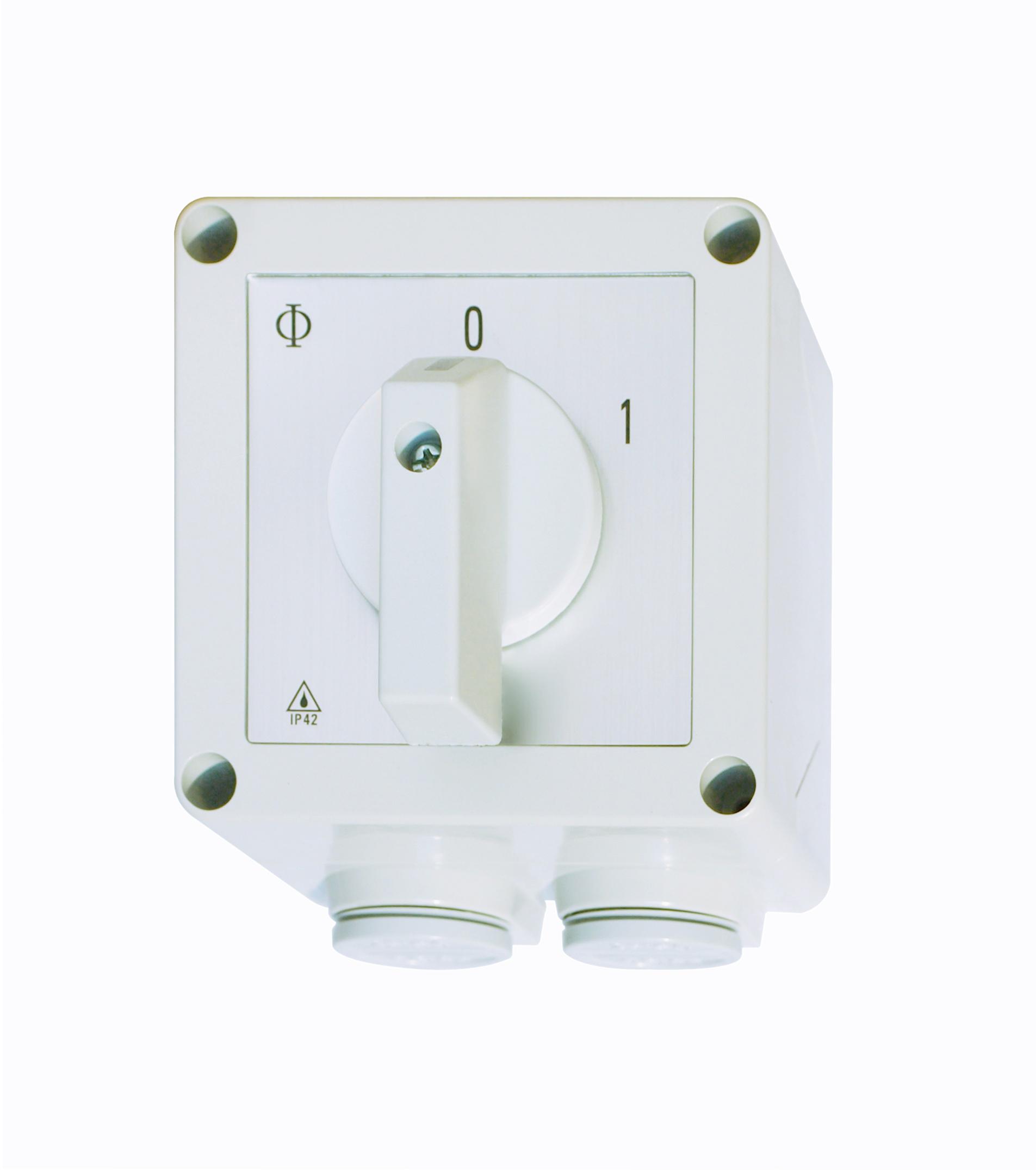 1 Stk Ausschalter, 1-polig, 25A, 0-1, im Kunststoffgehäuse IN232004--