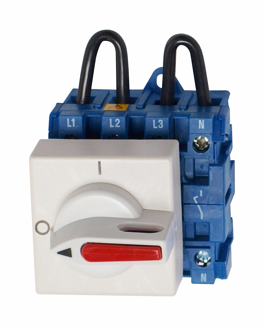 1 Stk Hauptschalter 2 pol. 12A, 500VDC, Reiheneinbau IN882019--