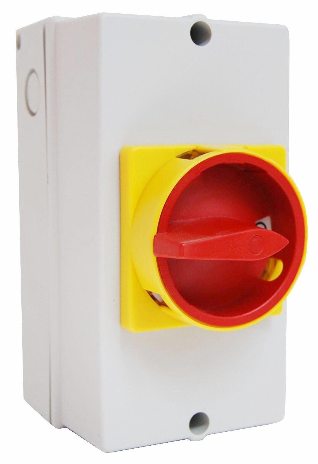 1 Stk Not-Aus-Schalter, 4-polig ohne Hilfskontakte PE-Klemme, 25A IN892002--