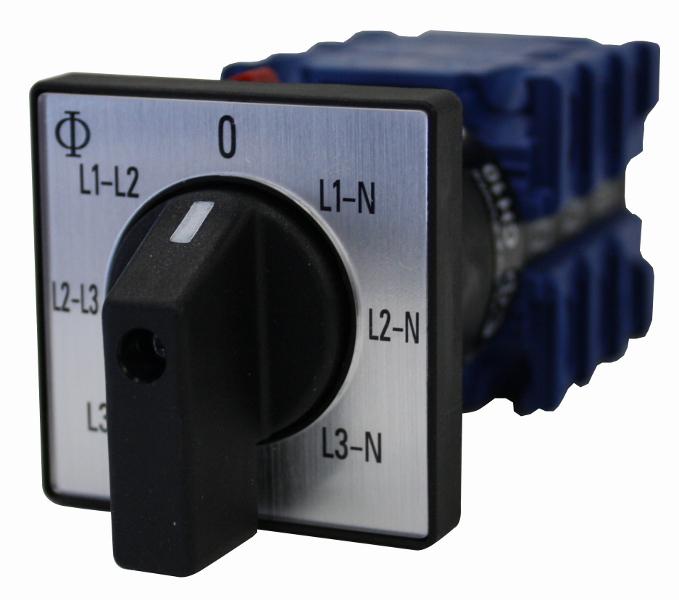 1 Stk Voltmeterumschalter, Zentralbefestigung, 20A IN992001--