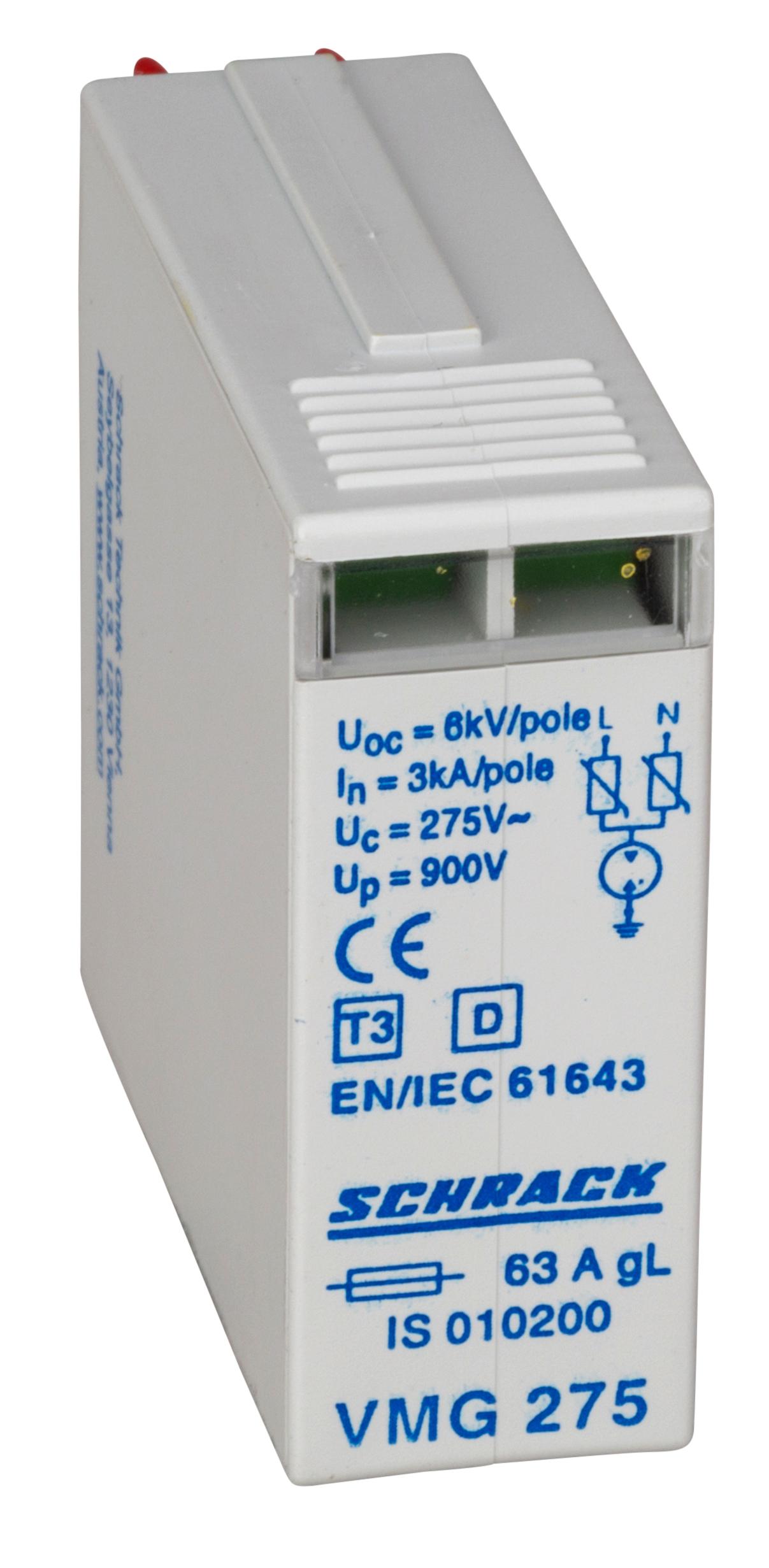 1 Stk D/T3-Ableiter Modul 3kA, VMG 275V, 1 Teilungseinheit IS010200--