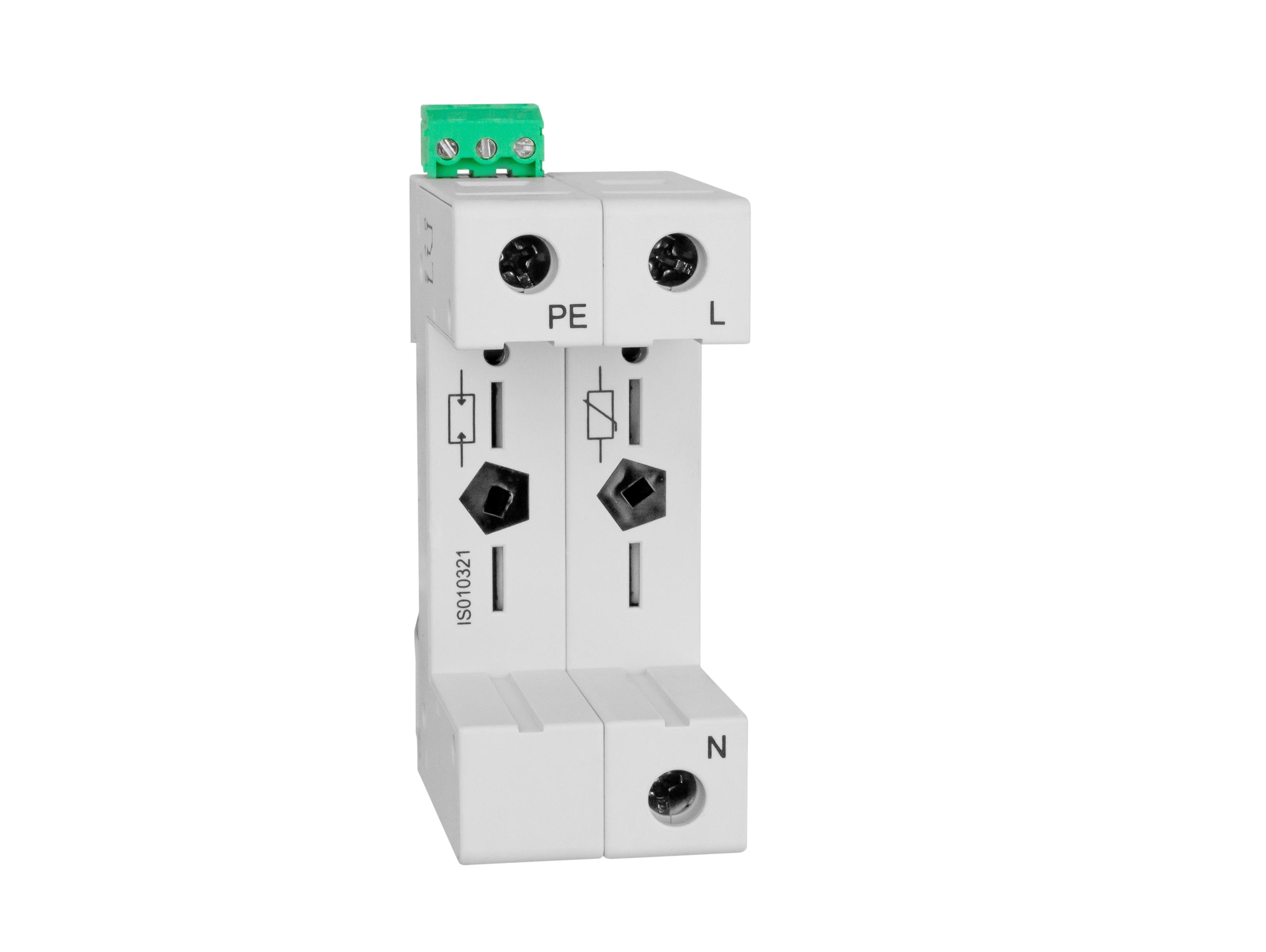 1 Stk Vartec TII, Sockel 1+1 (für 1 VVM, 1 VGM), mit Hilfskontakt IS010321--