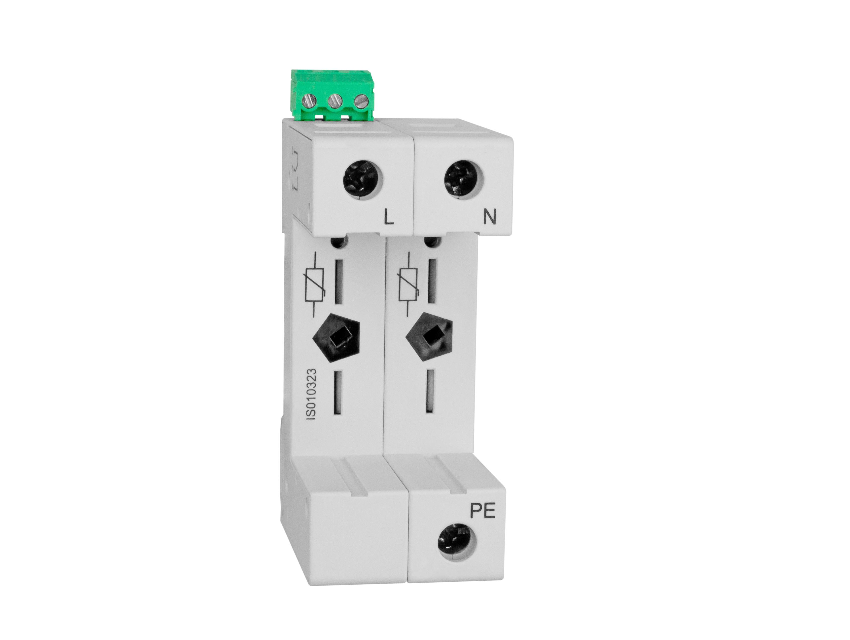 1 Stk Vartec TII, Sockel 2+0 (für 2 VVM), mit Hilfskontakt IS010323--