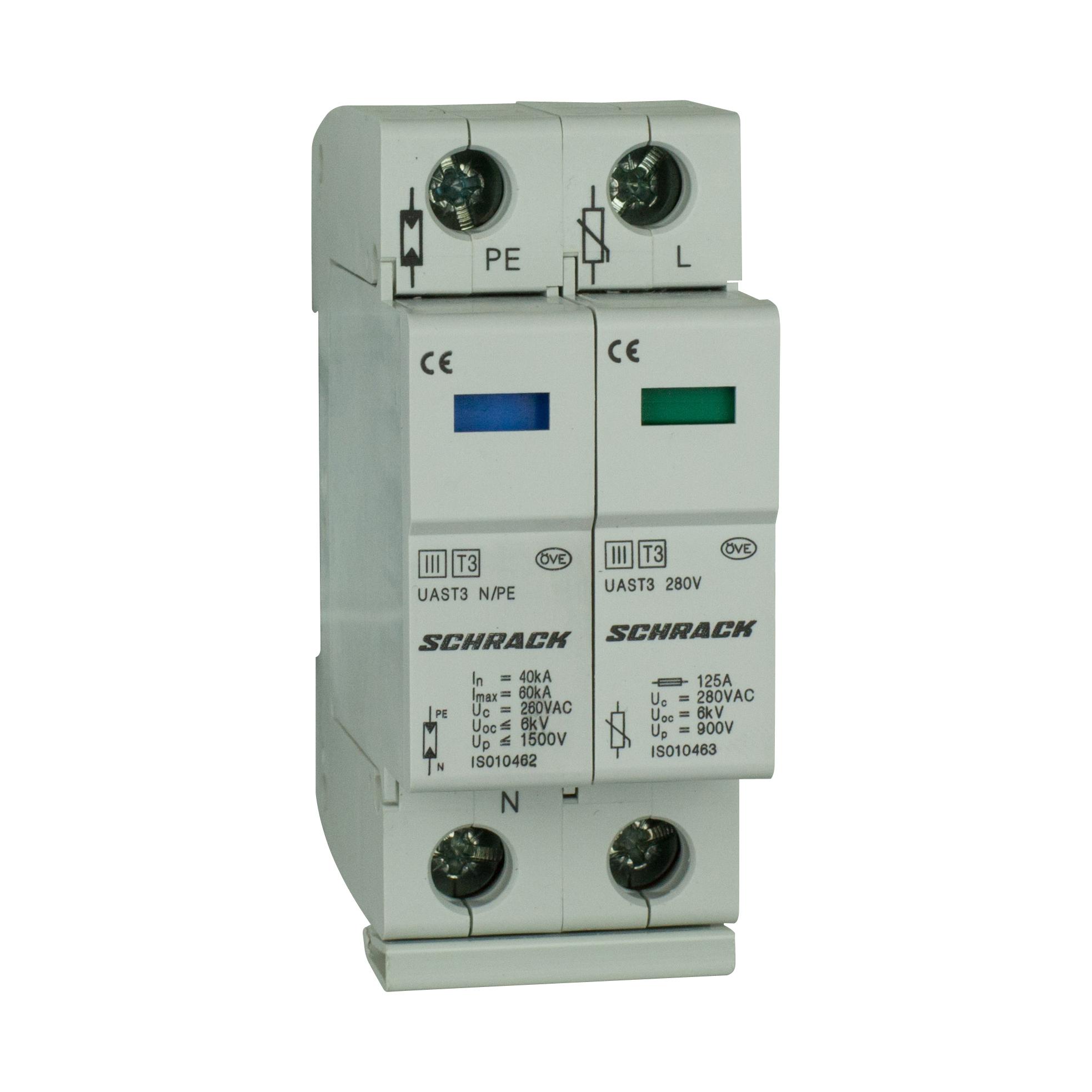 1 Stk T3/D - Ableiter komplett, 1+1, 280V - Serie UAS IS010460--