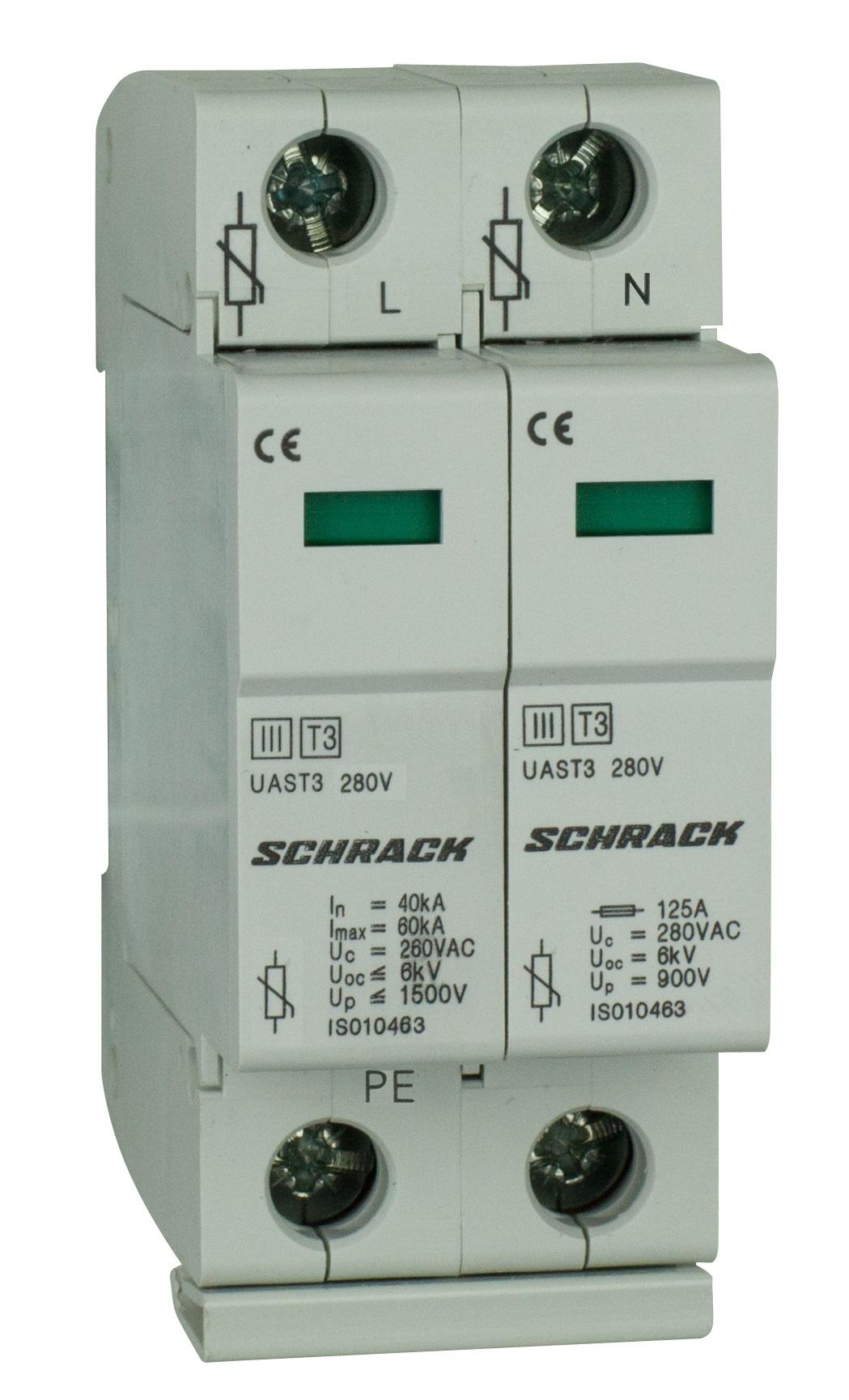 1 Stk T3/D - Ableiter komplett, 2p, 280V - Serie UAS IS010461--