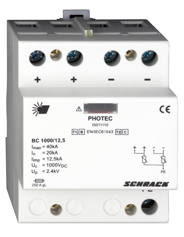 1 Stk Photovoltaikabl. Klasse 1+2 (B+C) 1000Vdc, Iimp 12,5kA IS011110--