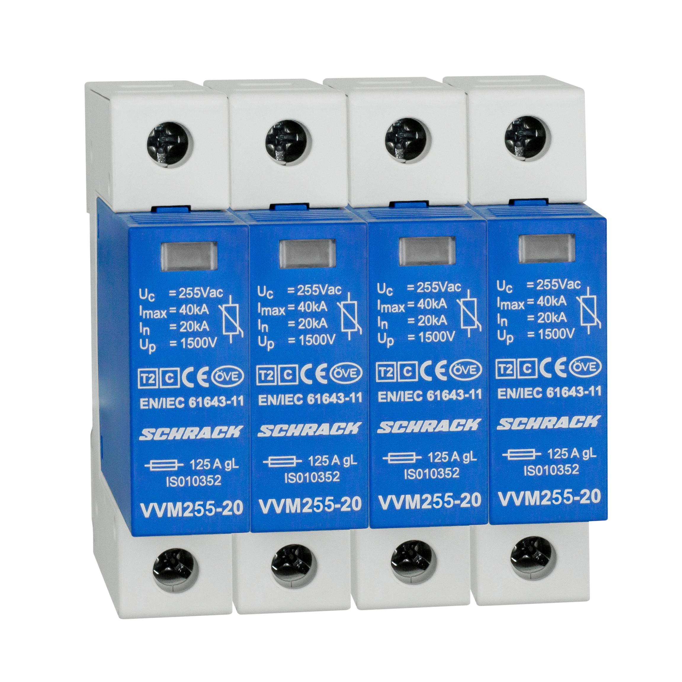 1 Stk Überspannungsableiterset 4+0 für TN-S System, Klasse T2(C) IS111340--