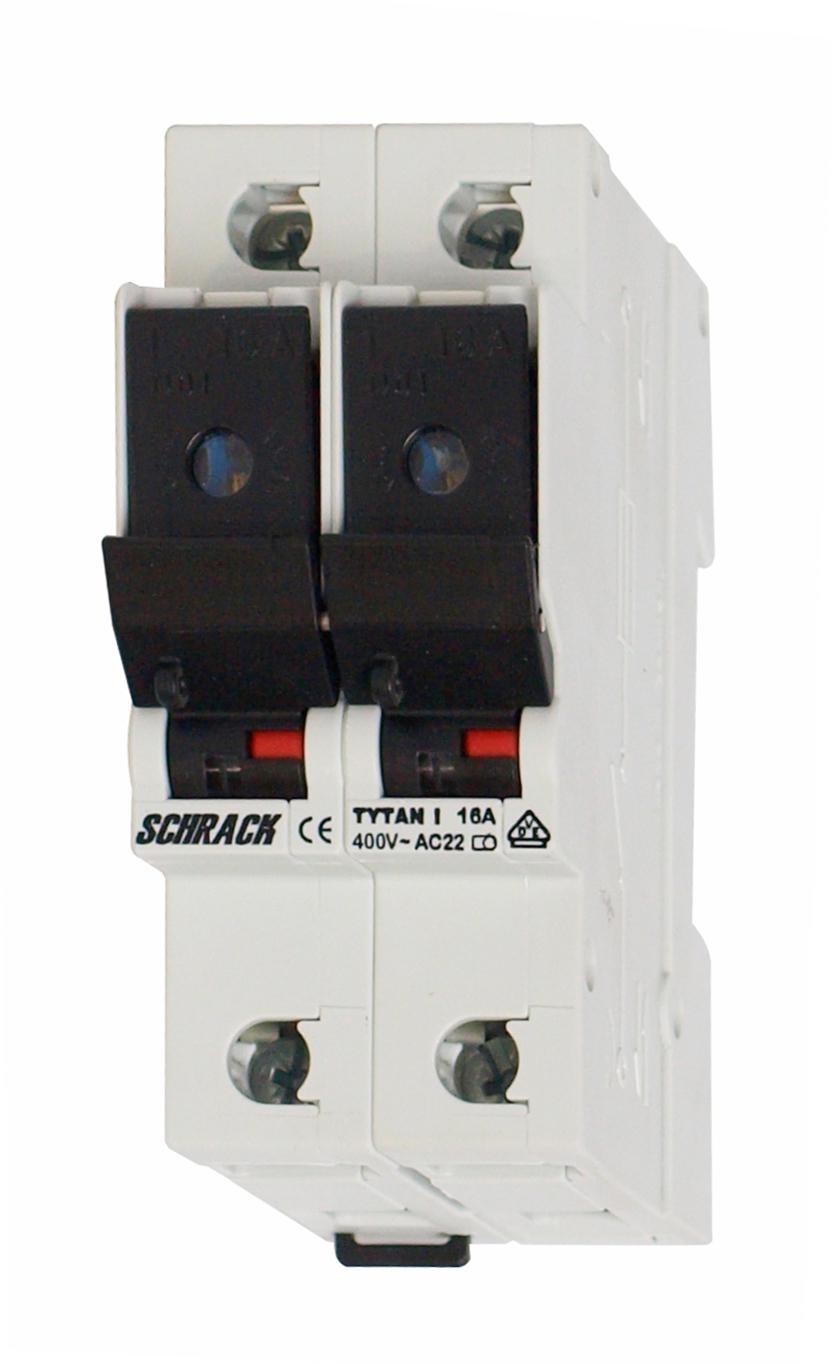 1 Stk TYTAN I, D01-Sicherungslasttrenschalter, 2-polig IS503002--