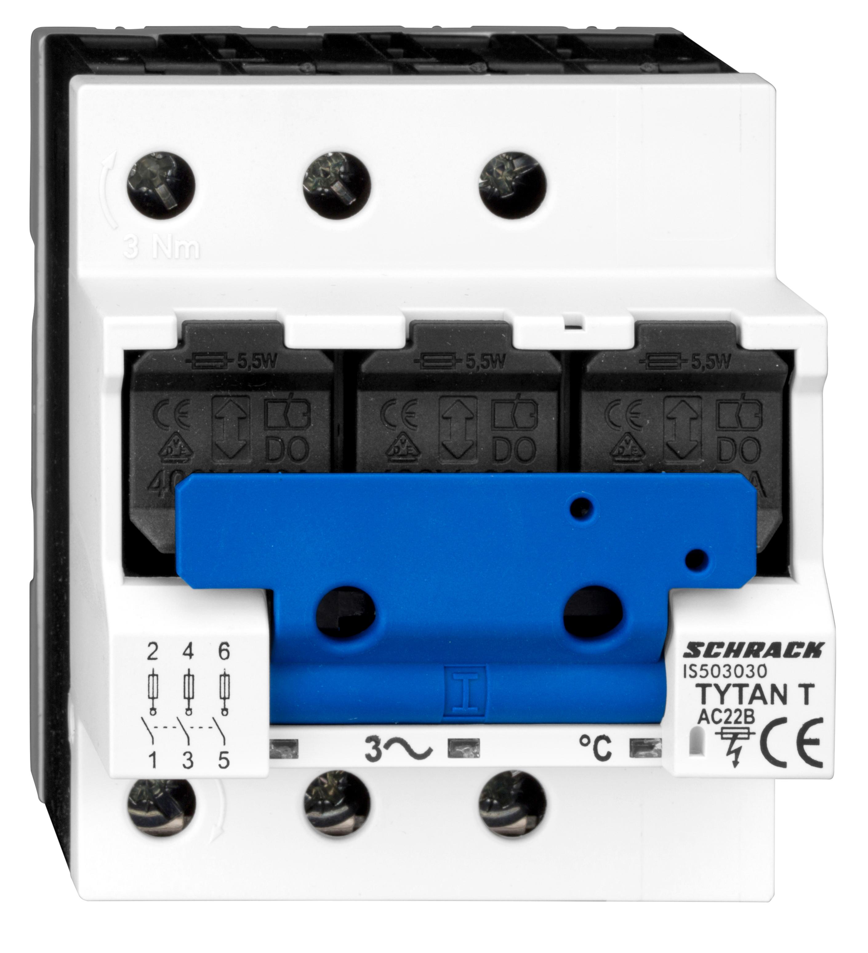 1 Stk TYTAN T, D02-Sicherungslasttrenschalter, 63A, 3-polig IS503030--