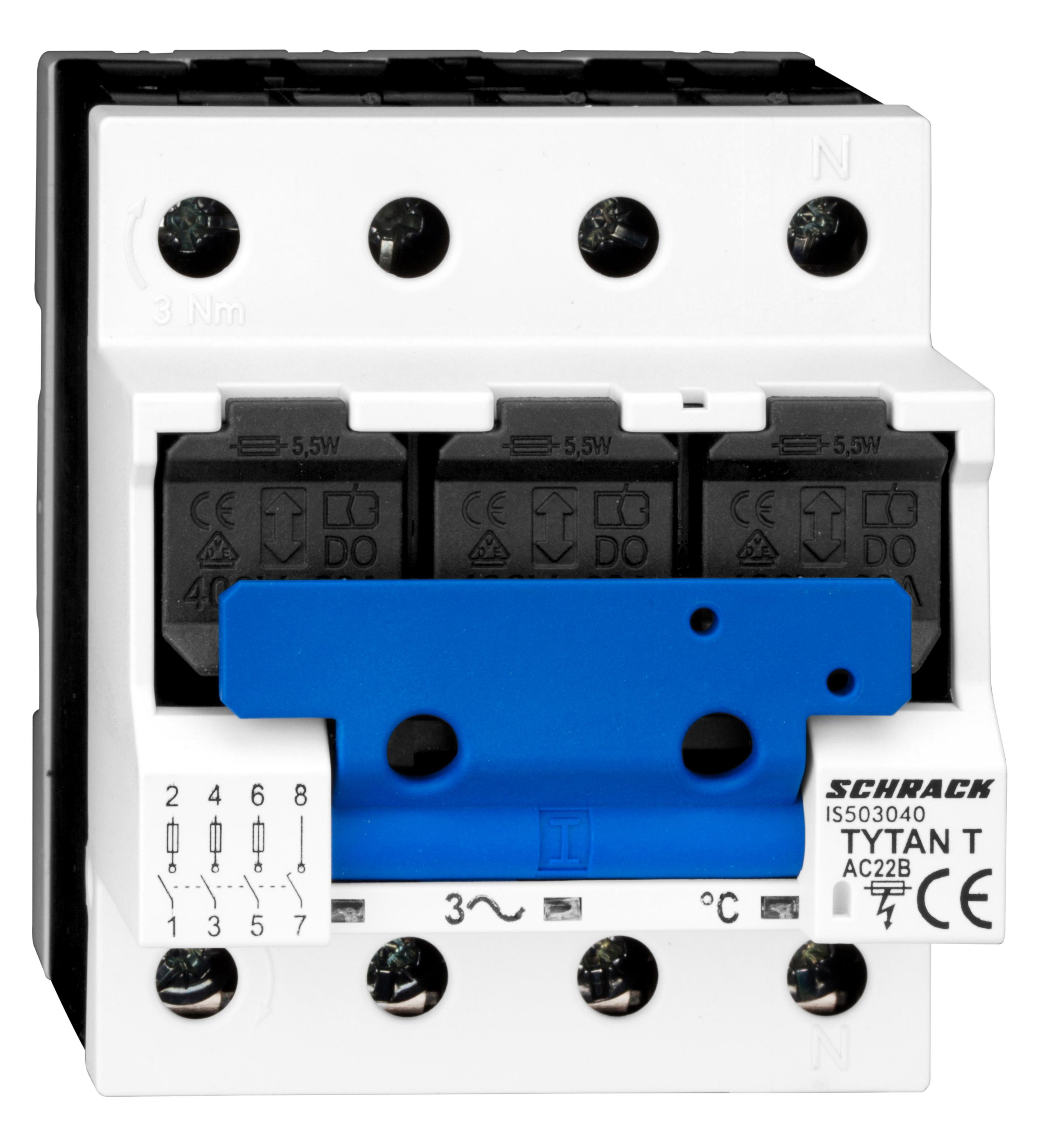 1 Stk TYTAN T, D02-Sicherungslasttrenschalter, 63A, 3-polig + N IS503040--