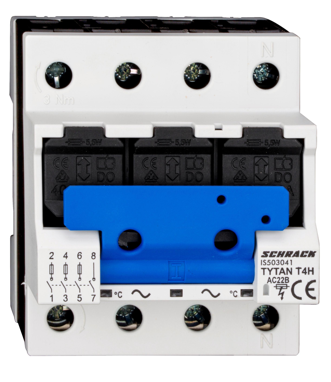 1 Stk D02-Sicherungslasttrenschalter, 63A, 3+N, TYTAN T mit HK IS503041--