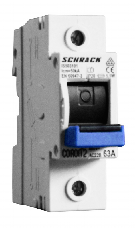 1 Stk CORON 2, D02-Sicherungslasttrennschalter, 63A, 1-polig IS503101--
