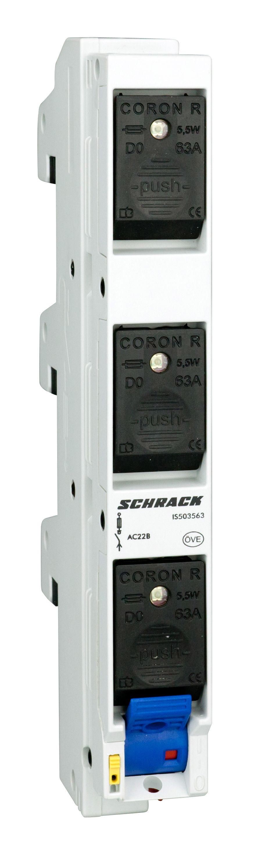 1 Stk CORON R Lasttrennschalter D02, 3polig, 63A IS503563--
