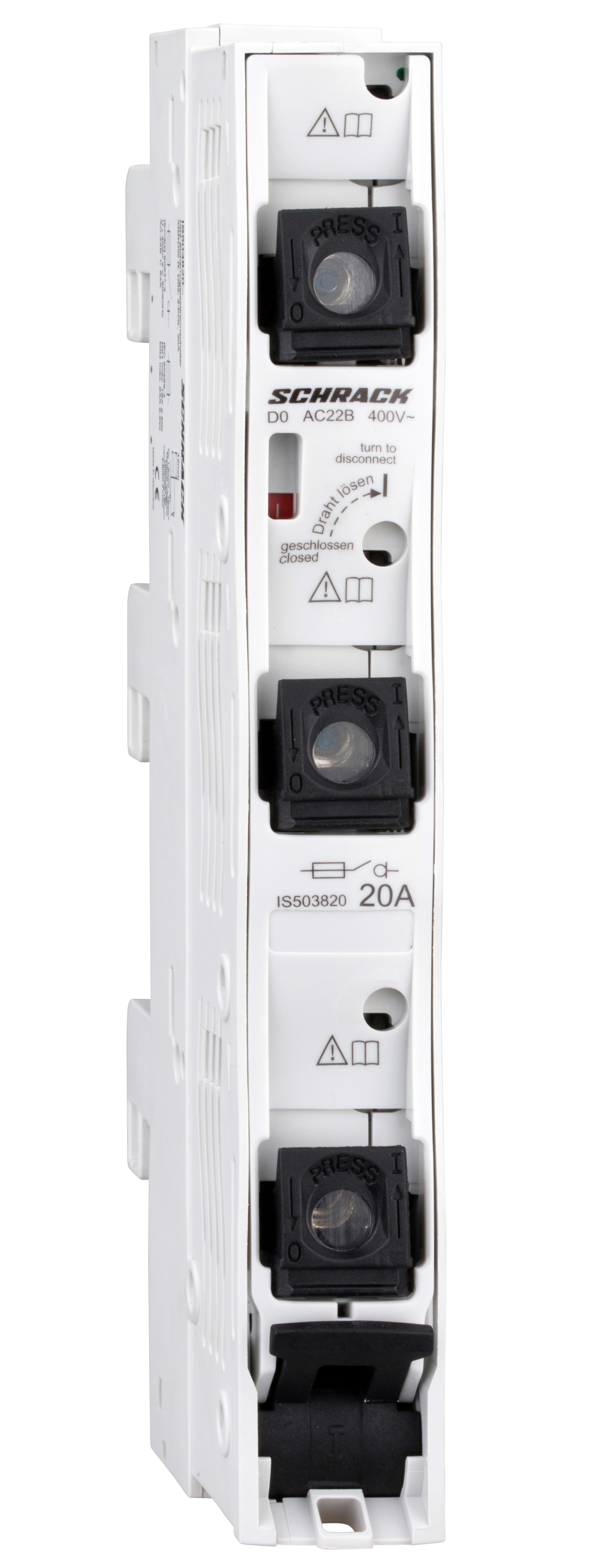 1 Stk D02-Sicherungslasttrennleiste ARROW R, 3-polig, 20A, kompl. IS503820--
