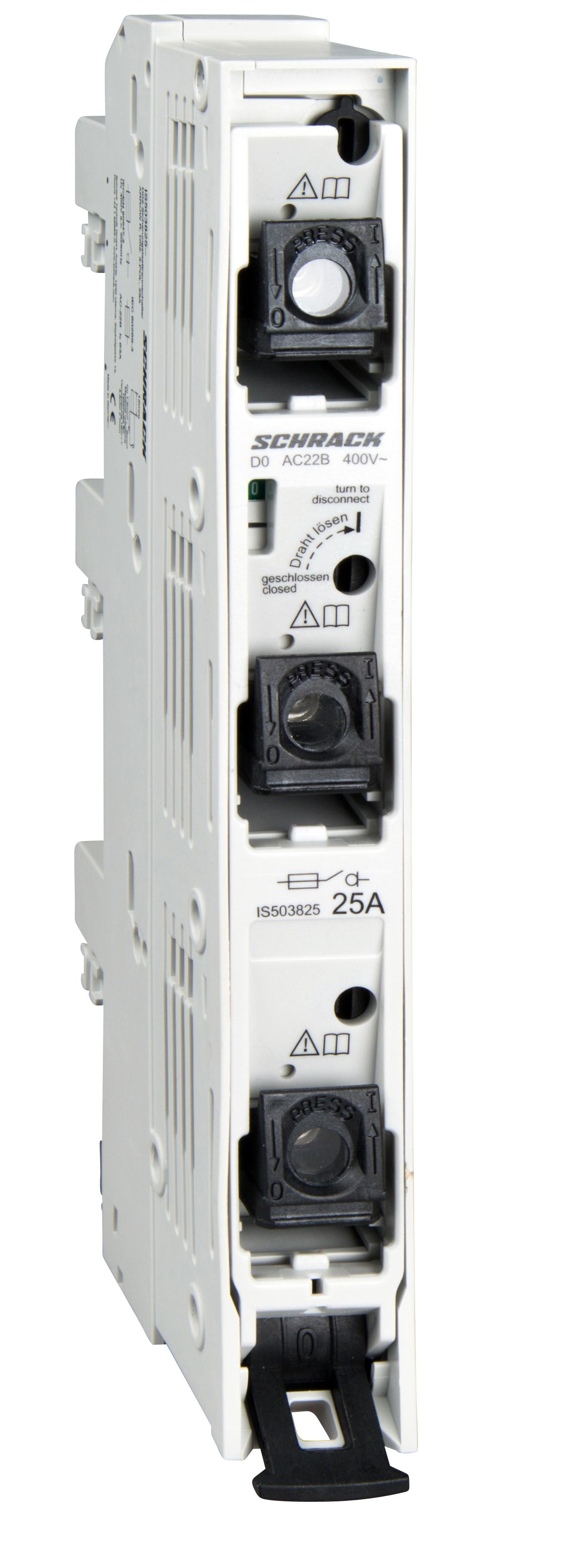 1 Stk D02-Sicherungslasttrennleiste ARROW R, 3-polig, 25A, kompl. IS503825--