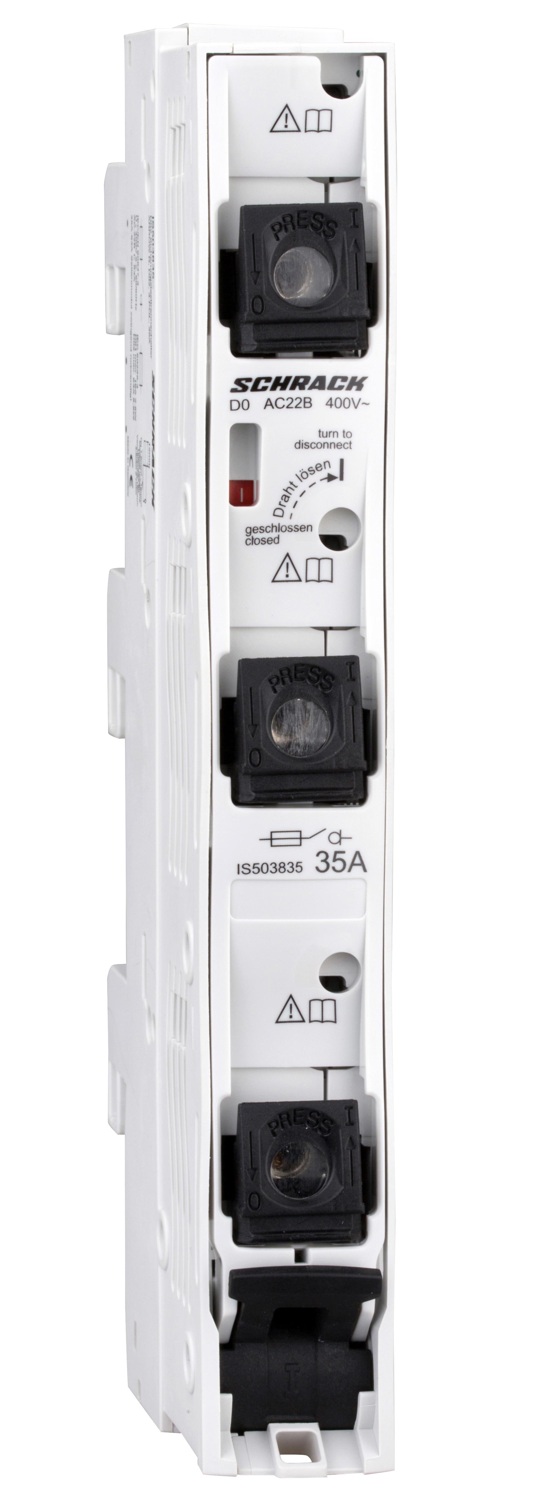 1 Stk D02-Sicherungslasttrennleiste ARROW R, 3-polig, 35A, kompl. IS503835--