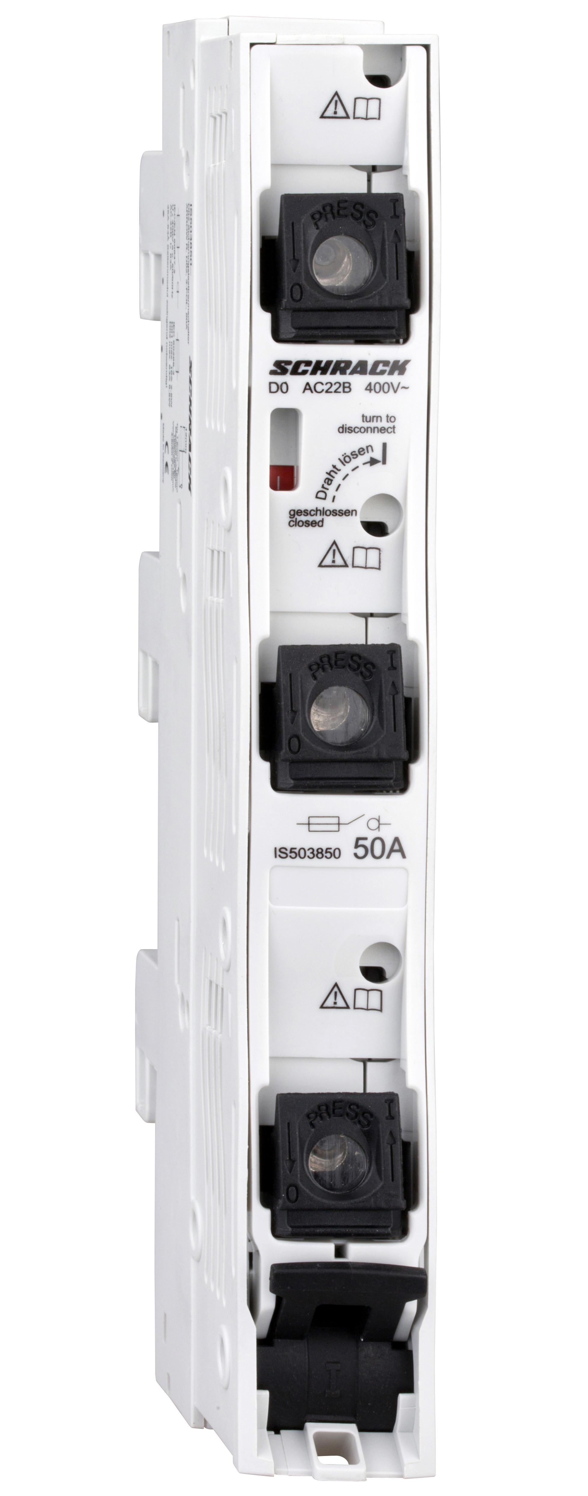1 Stk D02-Sicherungslasttrennleiste ARROW R, 3-polig, 50A, kompl. IS503850--
