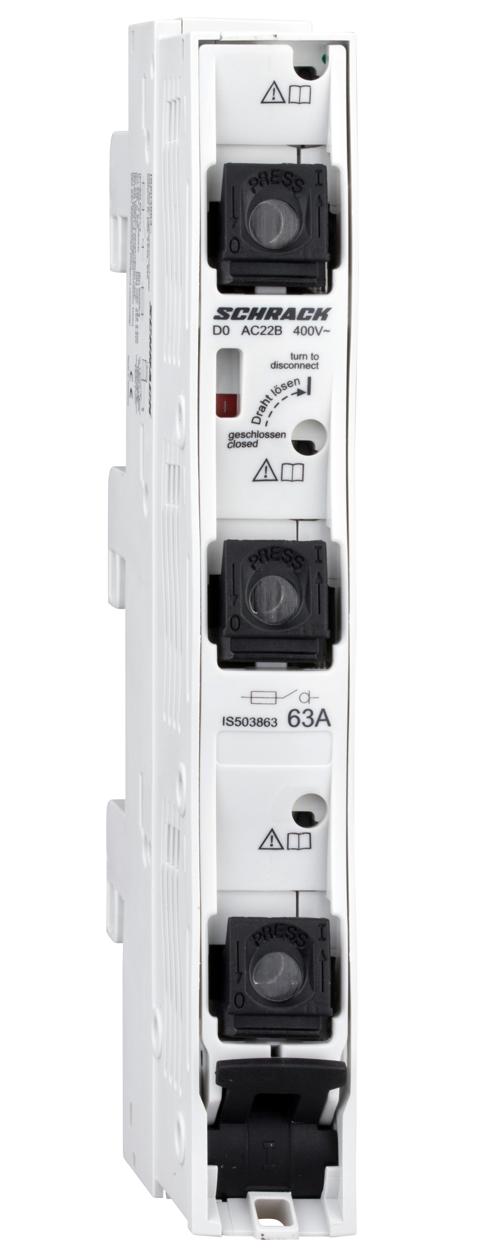 1 Stk D02-Sicherungslasttrennleiste ARROW R, 3-polig, 63A IS503863--