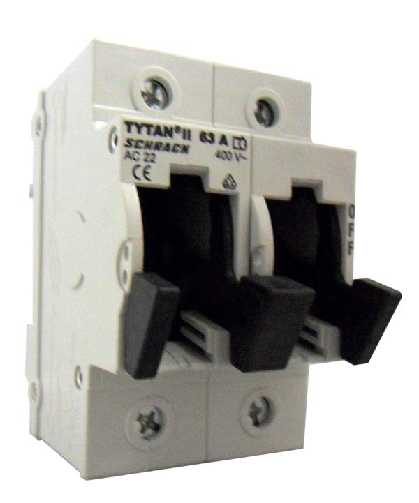 1 Stk TYTAN II, D02-Sicherungslasttrennschalter, 2-polig, 63A IS504701-A