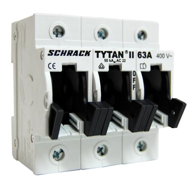 1 Stk TYTAN II, D02-Sicherungslasttrennschalter, 3-polig 63A IS504702-A
