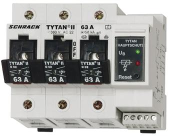 1 Stk TYTAN II, D02-Sicherungslasttrenns.,1-pol+N,63A, Hauptschutz IS504708--