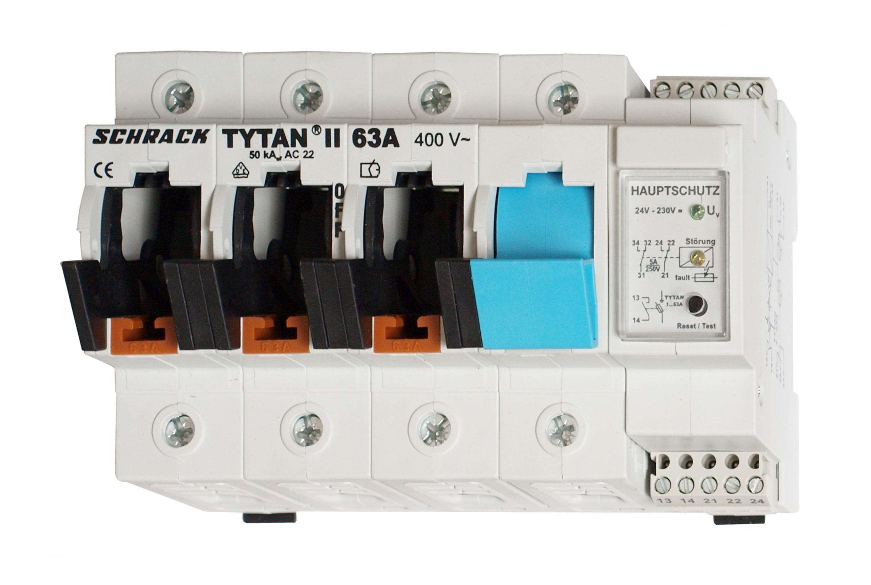 1 Stk TYTAN II, D02-Sicherungslasttrenns.,3-pol+N, 63A,Hauptschutz IS504709--