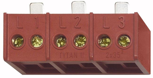 1 Stk Doppelanschlussklemme 3x2x35mm für TYTAN II und CORON 2 IS504722--