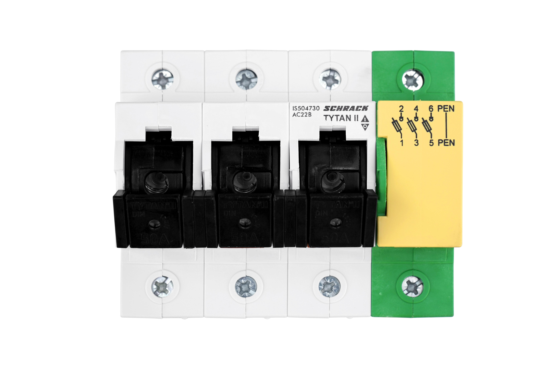 1 Stk D02-Lasttrennschalter, 3 polig, TYTAN II, mit PEN-Klemme IS504730--