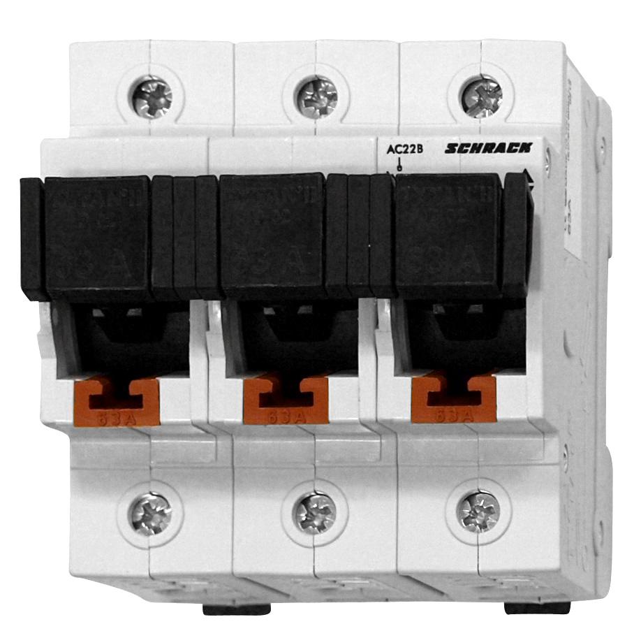 1 Stk TYTAN II, D02-Sicherungslasttrennschalter,3-pol komplett 63A IS5047PL63