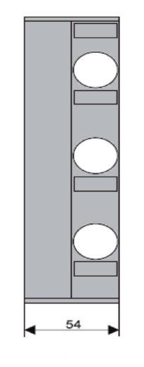 1 Stk D02-Streifenabdeckung 54mm+Verbreiterung 3-polig f. IS504823 IS504826--