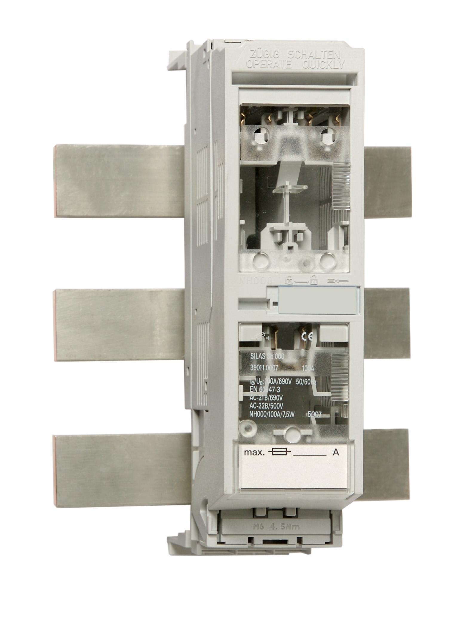 1 Stk Reiter-NH-Lasttrenner Gr.000 bis 100A für 60mm Sys.Abg.unten IS505019-B