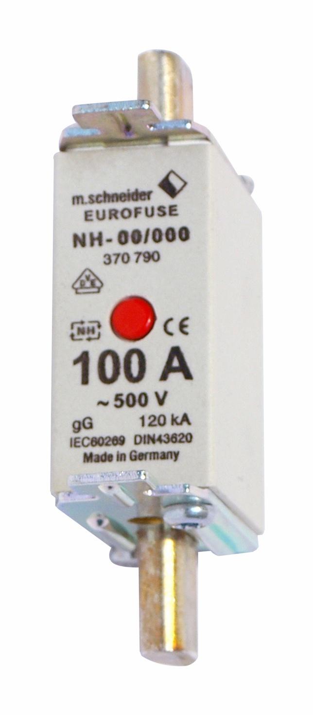 1 Stk NH-Sicherungseinsatz Größe 00, 100A, mit Bauchnabelmelder IS505410--