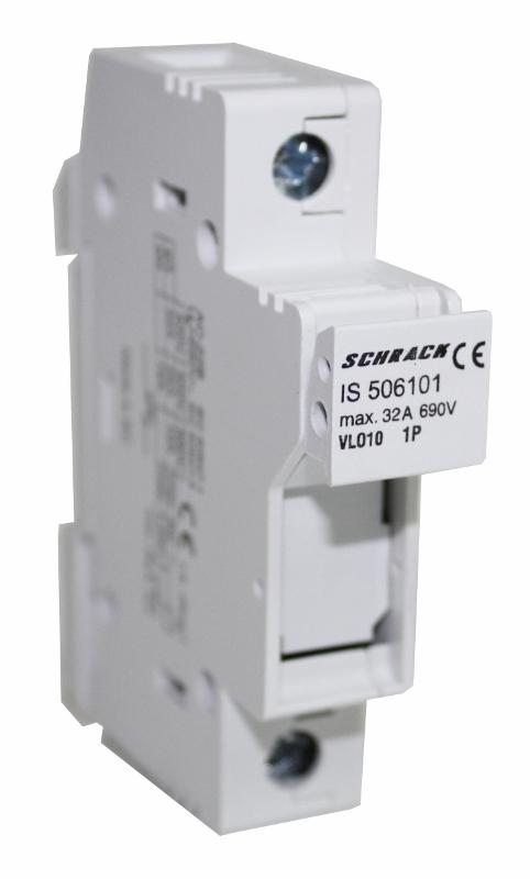 1 Stk Sicherungstrennschalter 10x38mm, 1-polig, 32A IS506101--