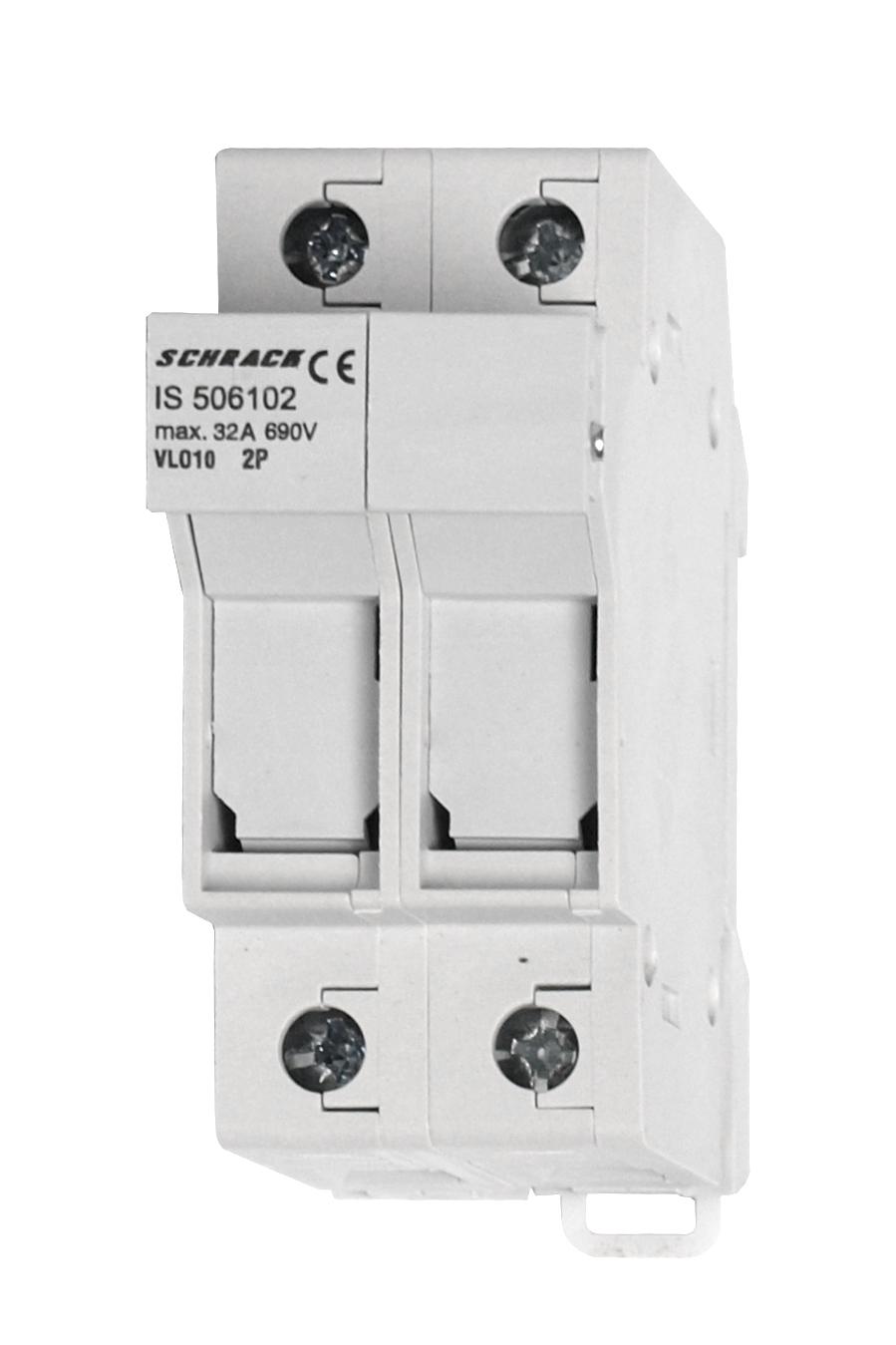 1 Stk Sicherungstrennschalter 10x38mm, 2-polig, 32A IS506102--