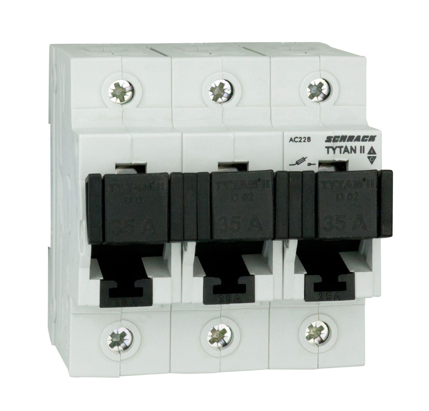 1 Stk TYTAN II, Sicherungslasttrennschalter, 3-polig, kompl., 35A IS509335--