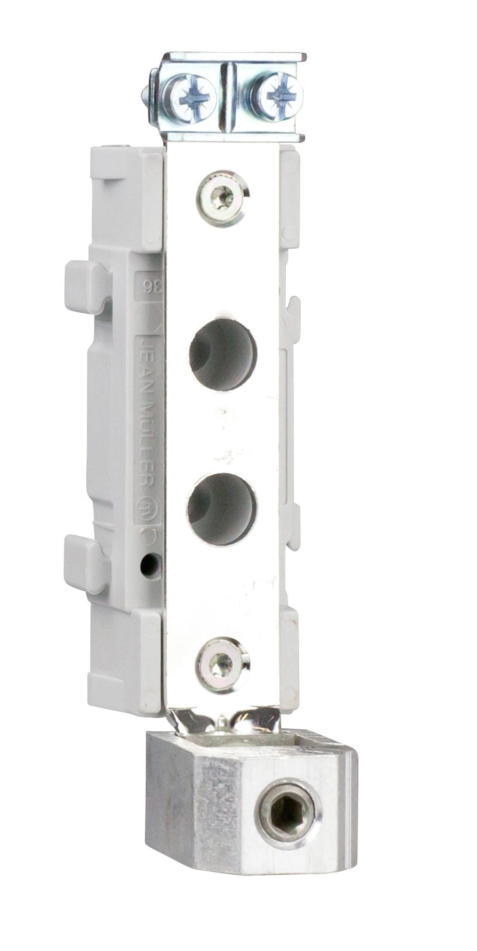 1 Stk Neutralleiter-Stütze, Größe 00, V-Klemme/Bride, 1-polig ISA05006--