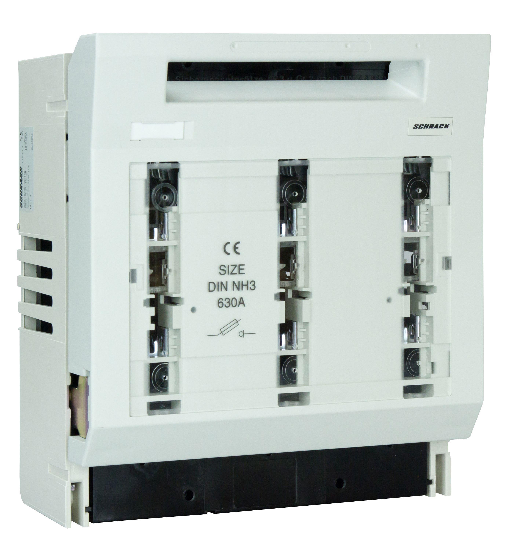 1 Stk NH-Trenner, ARROW-BLOC, Größe 3, 3-polig, 630A, M12, Aufbau ISA05295--