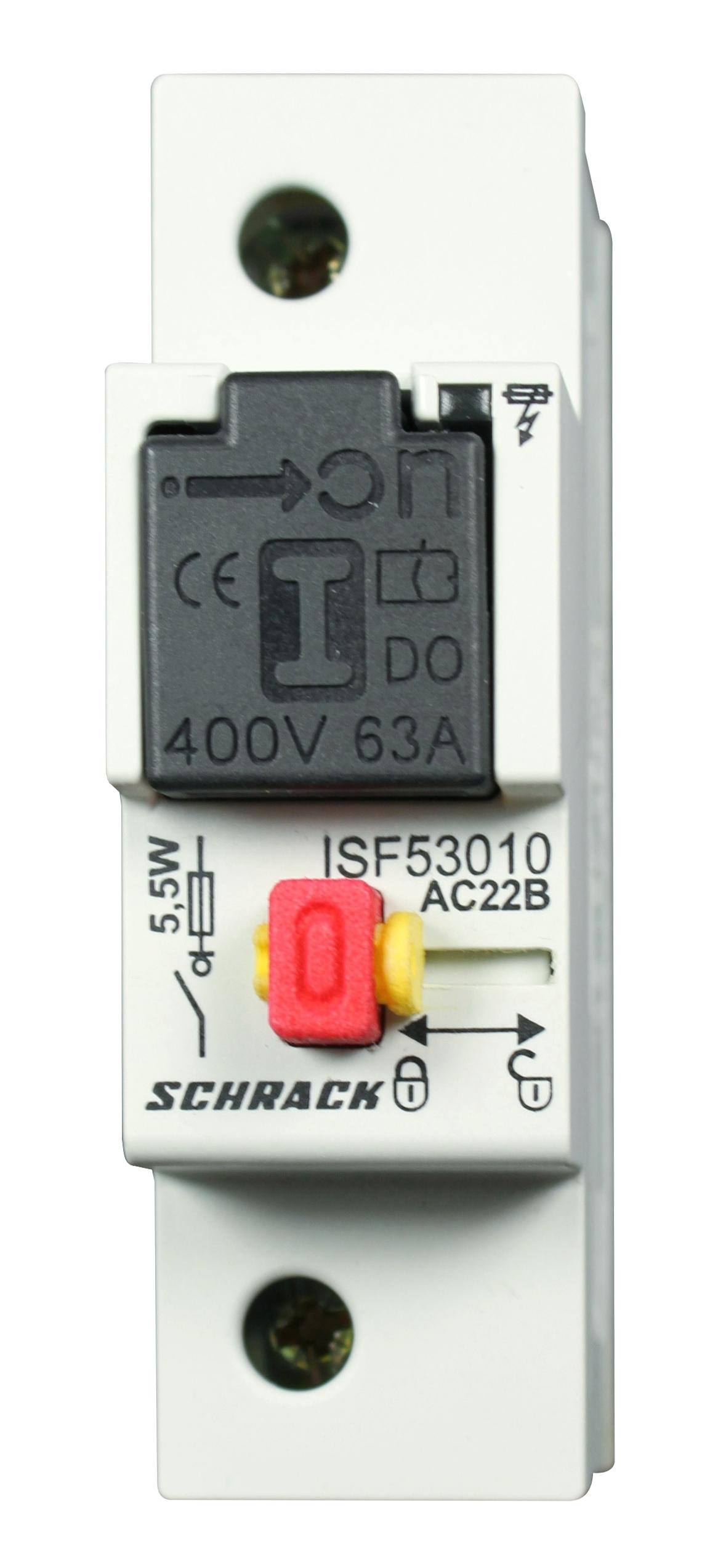 1 Stk Sicherungslastschalter D02, 1-polig, 10A fixiert, komplett ISF53010--