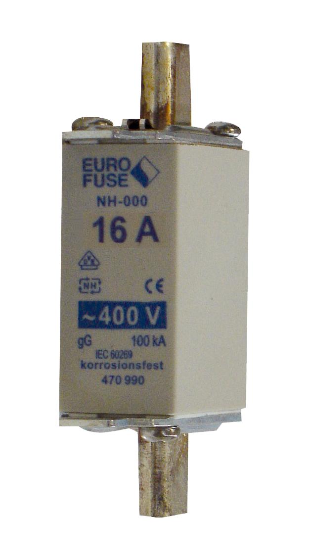 1 Stk NH-Sicherungseinsatz, Größe 00, 16A, 400V AC ISP00016--