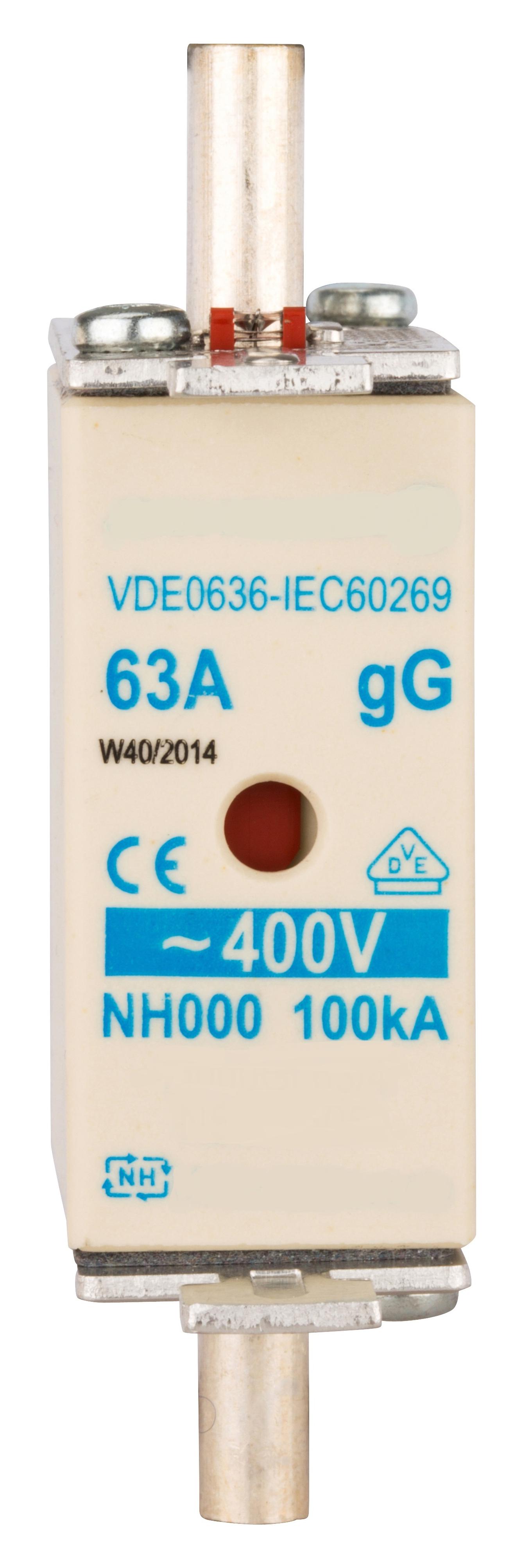 1 Stk NH-Sicherungseinsatz, Größe 00, 63A, 400V AC ISP00063--