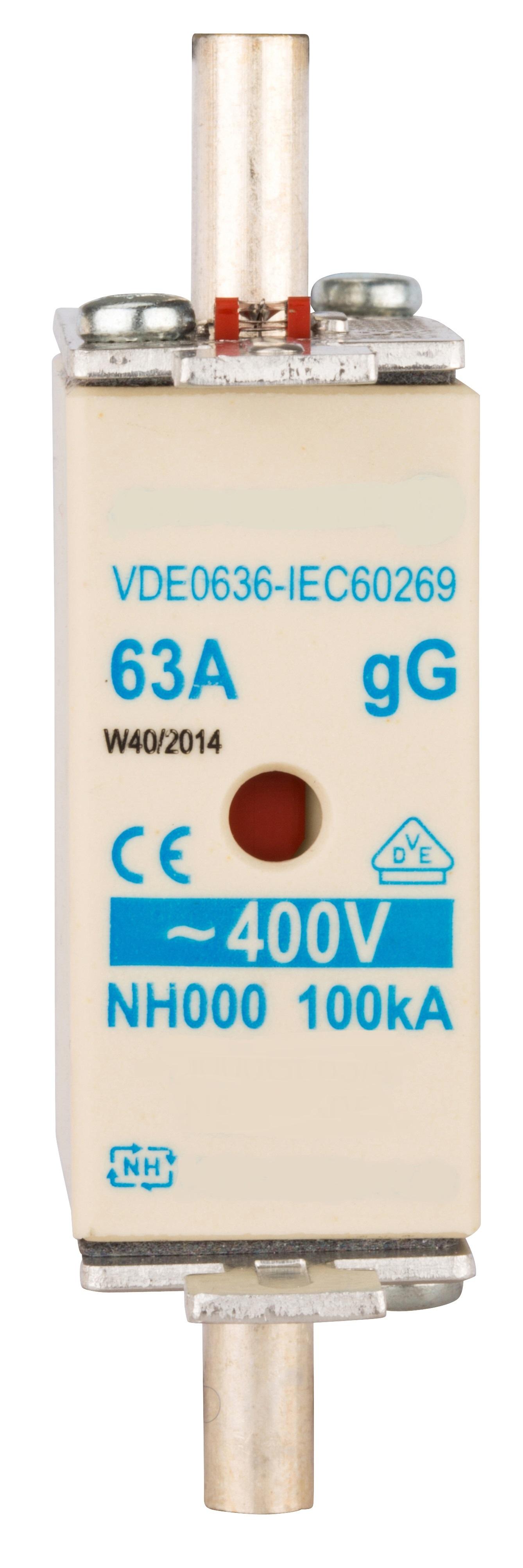 1 Stk NH-Sicherungseinsatz, Größe 00, 80A, 400V AC ISP00080--