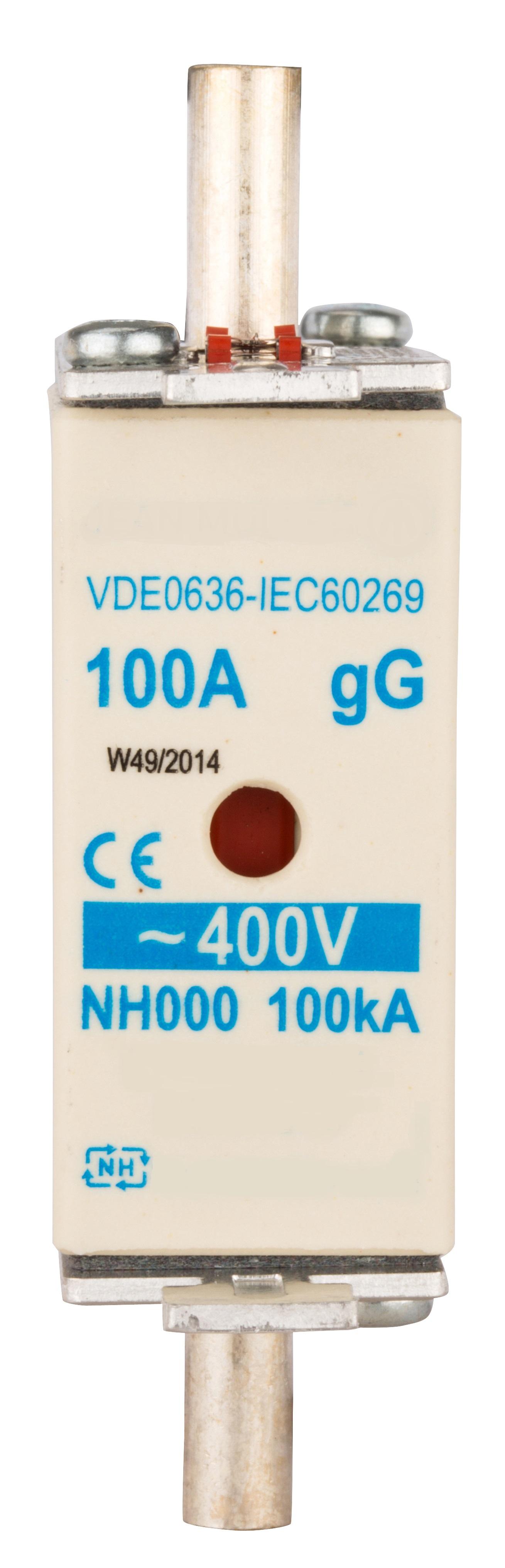 1 Stk NH-Sicherungseinsatz, Größe 00, 100A, 400V AC ISP00100--